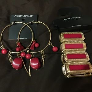 Ashley Stewart Bracelet and Earrings Set